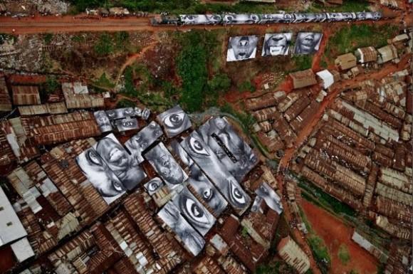 Inside Out Project, JR, fotos em favelas (10)