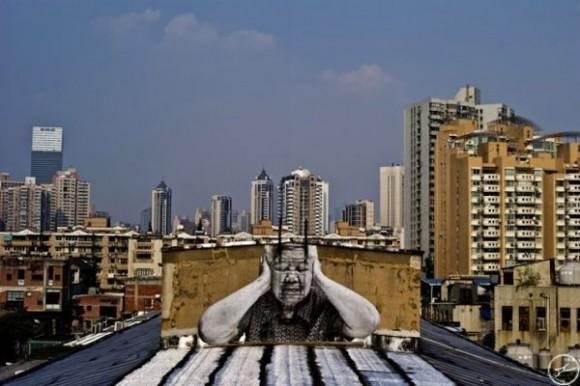 Inside Out Project, JR, fotos em favelas (2)